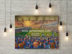 priestfield stadium canvas a3 size